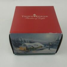 "Christmas Holiday Ornament THOMAS KINKADE 2011 Limited Ed 3"" Glass Original box"