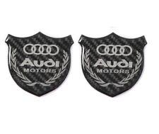 3D AUDI Carbon Fiber Car Front Body Trunk Rear Side Badge Emblem Sticker X2