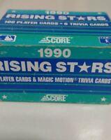 1990 Score 100 Rising Stars Complete Set Original Box Ken Griffey Jr Sammy Sosa+