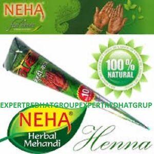 Natural Herbal Henna Cone Temporary Tattoo kit  Body Art Paint Mehandi INK
