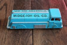 Vintage Blue Diecast Truck Midgetoy Oil Company Advertising Toy 1940's
