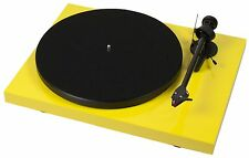 Pro-Ject Debut Carbon Premium Turntable (Yellow) + Ortofon 2M