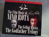 NINO ROTA - THE FILM MUSIC. THE FELLINI MOVIES THE GODFATHER TRILOGY. BOX 2 CD.
