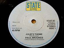 "Paul Brookes-JULIE 'S THEME 7"" VINILE ""ASCOLTA"""