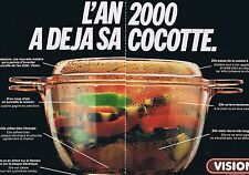 PUBLICITE ADVERTISING 035 1980 VISION de CORNING la cocotte de l'an 2000  2 pges