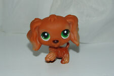 "Littlest Pet Shop #252 Cocker Spaniel Dog  Brown, Green Dot Eyes. ""AUTHENTIC!!!"""