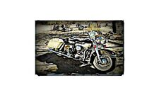 1965 Flh Electra Glide Bike Motorcycle A4 Photo Poster