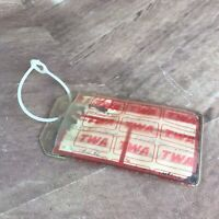 Vintage TWA Employee Crew Luggage Suitcase  Tag  Made in Canada