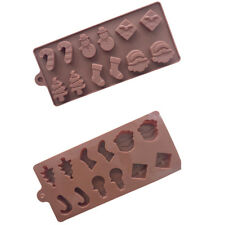 Christmas 6 Shapes Silicone Chocolate Baking Moulds Candy Cookies Ice Decor Tool