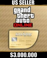 PS4-(GTA V) GRAND THEFT AUTO ONLINE SHARK CASH MEGA SPECIAL $3,000,000