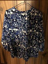 79c5bac3efbb Kim Rogers Women's button down shirt top career blouse Black White L NWOT