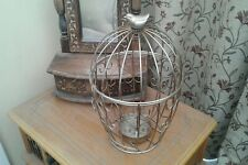 Beautiful.....BIRD CAGE....CANDLE HOLDER...(metal/gold)...EXCELLENT CONDITION.