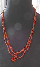VINTAGE CORAL BEADS NECKLACE / COLLIER DE PERLES EN CORAIL VERITABLE-N°4