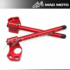 CNC Handlebar Clip On Kawasaki Ninja 300 EX300 EX-300 2013 2014 2015 red color