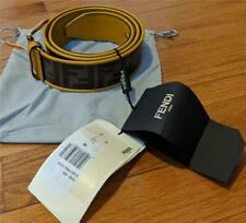 $595 Mens Fendi Tonal Signature FF Logo Belt Brown/Gold 90 US 36