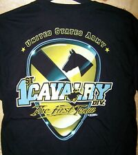 US Army 1st Cavalry First Team T-Shirt-7.62 Design Men's Size M L-FREE Shipping