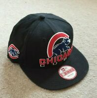 OFFICIAL CHICAGO BEARS BASEBALL CAP NEW ERA 9FIFTY BLACK SIZE S-M NEW WITH TAGS