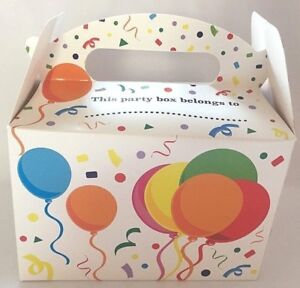 Birthday Party Meal Boxes Pack Of 6 Kids Celebration Treat Boxes Birthday Party