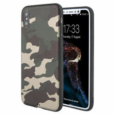 Men's Army Camo Soft Slim TPU Case Cover Back Skins For iPhone X 8 7 6 6S Plus
