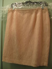 Lafayette 148 Petites 10P Pink Straight Skirt Silk Cotton Textural Fully Lined