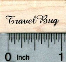 Travel Bug Rubber Stamp, Small Text A33617 WM