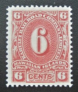 Mint 1894 Hawaii Kahului Railroad Maui 6 cent stamp MNG