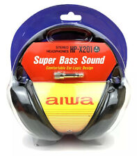 Aiwa HP-X201 Stereo Headphones Super Bass Sound Comfortable Ear Logic Design New
