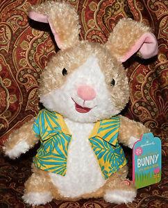 "Hallmark Sweet Dancing Bunny Sings Jelly Beana (Macarena) New Tags Plush 10"" Toy"