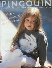 PINGOUIN CHILDREN- ADORABLE PICTURE KNITS 2 TO14 RARE- MINT-ENGL.
