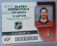 2018-19 Upper Deck MVP Credentials Access #NHL-EK VIP Access Erik Karlsson