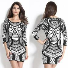Polyester Geometric Party Plus Size Dresses for Women