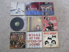 "BEATLES - 8 RECORDS 12"" VINYL - PAUL RINGO GEORGE JOHN LIVERPOOLS LINDA"