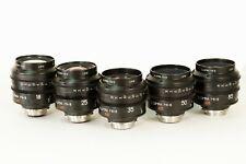 Lomo illumina MK-III S35 cine lense set 18, 25, 35, 50, 85mm T1.3 Arri PL mount