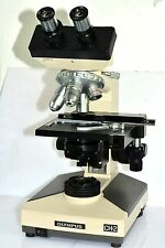 OLYMPUS CH-2 MACROSCOPE MODEL CHS WITH 4x 10x 40x 100x OBJECTIVES *EXCELLENT CON
