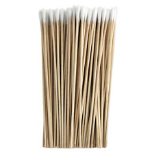 6 Inch Cotton-Tipped Wood Applicators - 100 Pack craft outdoor gun cleaning -NEW