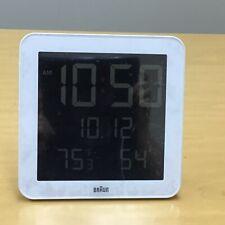 Braun Clocks Digital Wall Alarm Clock Radio Controlled Bnc014Wh