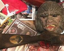 Planet of the Apes Mattel toy rifle and gorilla mask