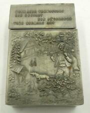 New listing Vintage German 1930S Pewter Cigarette Case With Motto