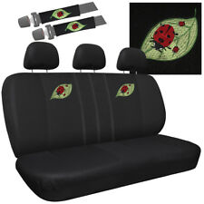 Car Seat Covers Beetle Ladybug 8pc Bench for Auto w/Detachable Head Rest