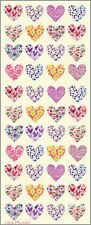2 Sheets of Heart Pattern Stickers 606