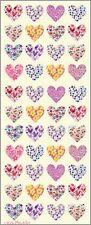 STICKER SHEET - Hearts Patterned 606  (2 sheets)