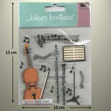 JOLEE'S BOUTIQUE - MUSICAL - Sheet Music Notes, Cello, Flute DIMENSIONAL STICKER