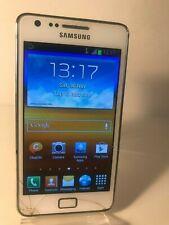 Samsung Galaxy S2 GT-I9100 - 8GB - White (Unlocked) Smartphone Mobile - Cracks