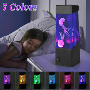 Jellyfish Aquarium LED Multicolor Lighting Fish Tank Mood Lamp Night Light US