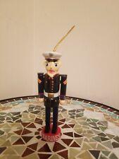 Wooden Christmas Ornament Decoration Marines Nutcracker Military Soldier Xmas
