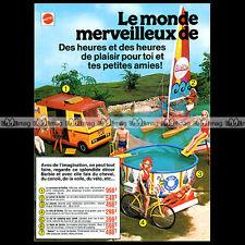 Mattel Vintage BARBIE Camping-car Piscine Vélo... 1977 Pub Publicité Ad #A184-AB
