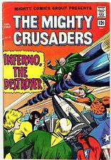 THE MIGHTY CRUSADERS No.2 Radio Comics Jan. 1966 vintage comic FN+