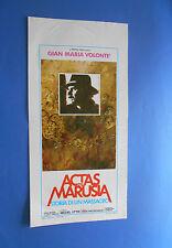 LOCANDINA  ACTAS DE MARUSIA STORIA DI UN MASSACRO GIAN MARIA VOLONTè A2