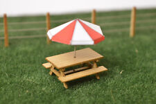 6 x LASER CUT PICNIC BENCHES / TABLES OO GAUGE 1:76 MODEL RAILWAY - LX028-OO