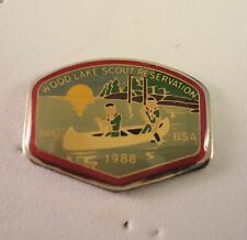 BSA Hatpin - Wood Lake Scout Reservation - NIC - 1988 -